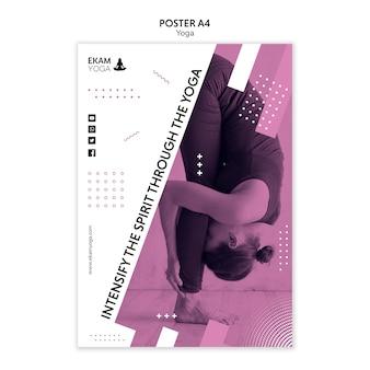 Poster sjabloon met yoga thema