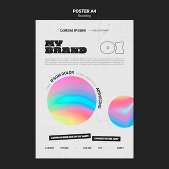Poster sjabloon voor bedrijfsbranding met kleurrijke cirkelvorm