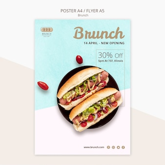 Poster sjabloon voor brunch deal
