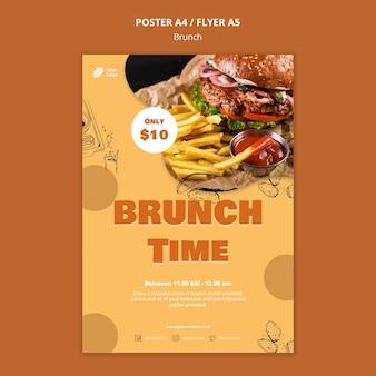 Poster sjabloon voor brunch