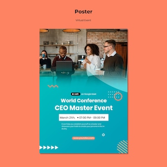 Poster sjabloon voor ceo master event conferentie