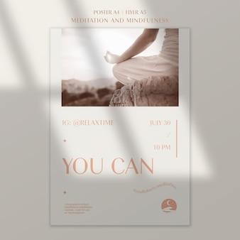 Poster sjabloon voor contemplatie