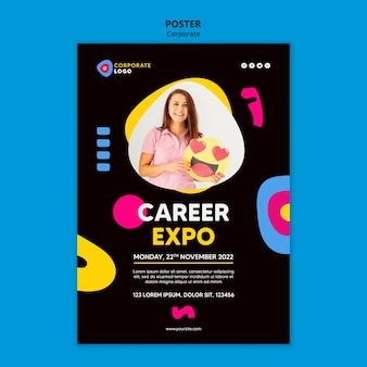 Poster sjabloon voor creatieve corporate team