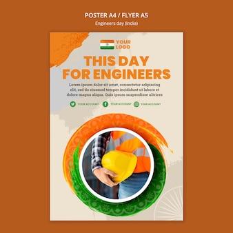 Poster sjabloon voor de viering van de dag van de ingenieurs