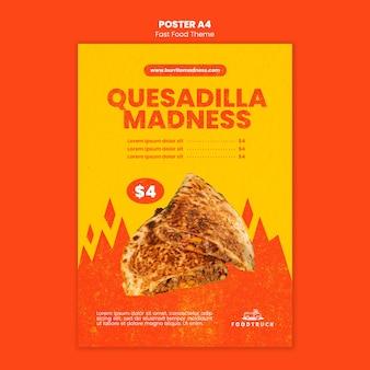 Poster sjabloon voor fastfoodrestaurant