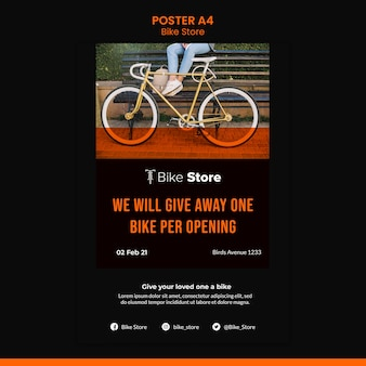 Poster sjabloon voor fietsenwinkel