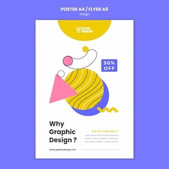 Poster sjabloon voor grafisch ontwerp
