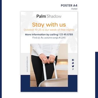 Poster sjabloon voor hotelreservering