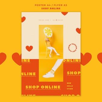 Poster sjabloon voor online winkelen
