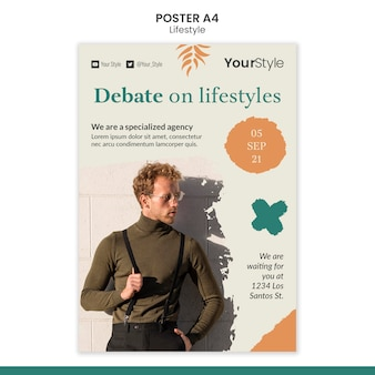 Poster sjabloon voor persoonlijke levensstijl