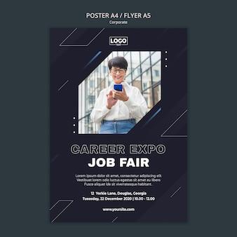Poster sjabloon voor professionele zakelijke onderneming