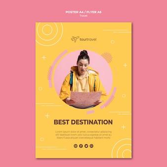 Poster sjabloon voor reizen
