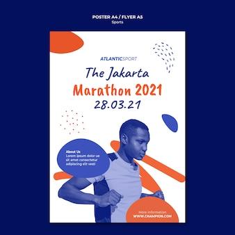 Poster sjabloon voor sport met man