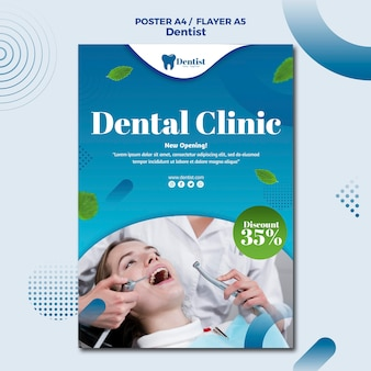 Poster sjabloon voor tandheelkundige zorg