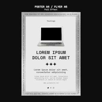 Poster sjabloon voor technologie met folie-effect