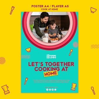 Poster sjabloon voor thuis koken