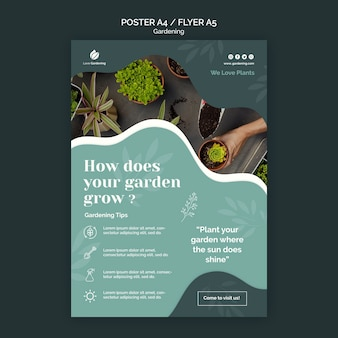 Poster sjabloon voor tuinieren