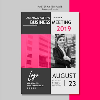 Poster sjabloon voor zakelijke bijeenkomst