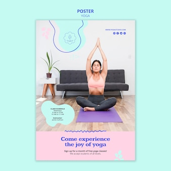 Poster sjabloon yoga advertentie