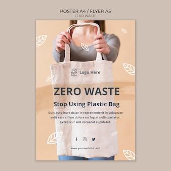 Poster sjabloon zonder afval