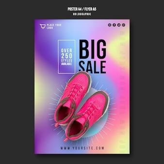 Poster sneakers verkoop sjabloon