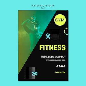 Poster sport zakelijke sjabloon