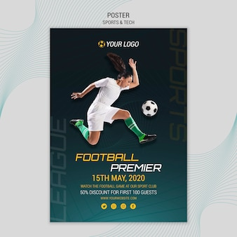 Poster thema met sport en tech thema