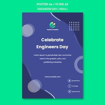 Poster voor de viering van de dag van de ingenieur