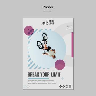 Poster voor extreme sporten