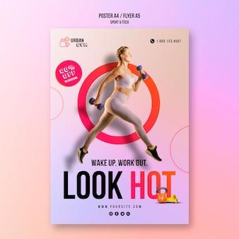 Poster voor fitness en lichaamsbeweging