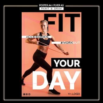 Poster voor fitnesstraining