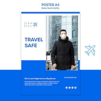 Poster voor het boeken van reizen