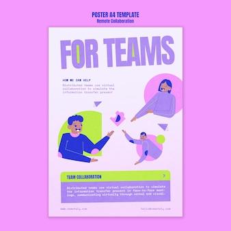 Poster voor samenwerking op afstand