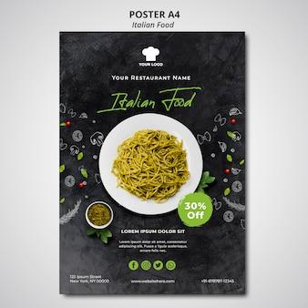 Poster voor traditioneel italiaans eten restaurant