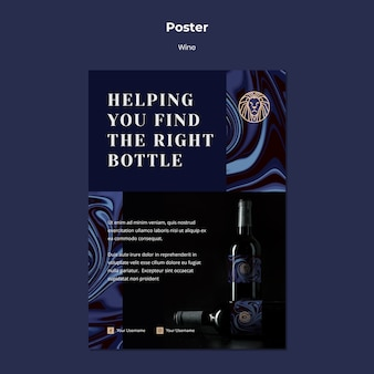 Poster voor wijnhandel