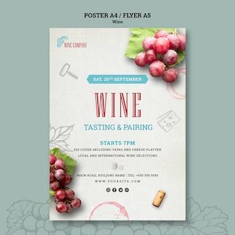Poster voor wijnproeven