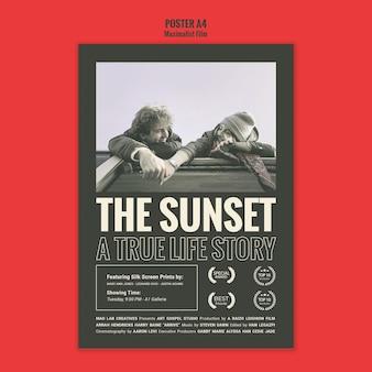 Poster waarnemend bureau sjabloon Premium Psd