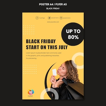 Poster zwarte vrijdag sjabloon