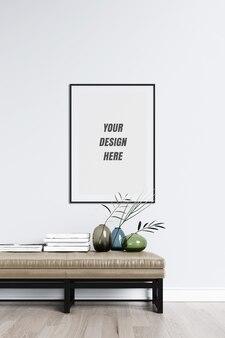 Posterframe en wandmodel met decoratie