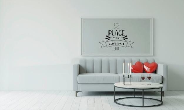 Posterframe in de woonkamer