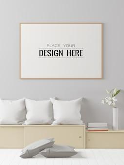 Posterframe mockup in de slaapkamer