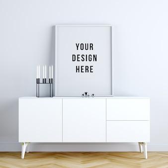 Posterframe mockupinterieur met decoraties