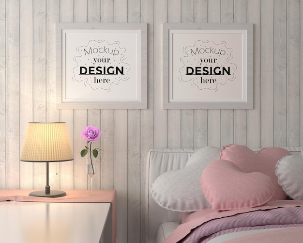 Posterframes in de slaapkamer