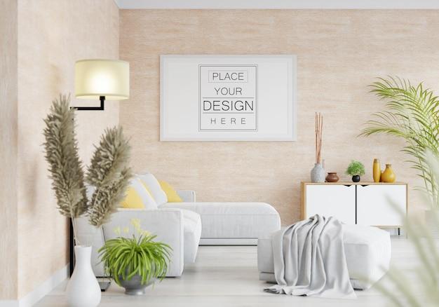 Posterlijst in woonkamer