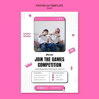 Postersjabloon voor het spelen van videogames