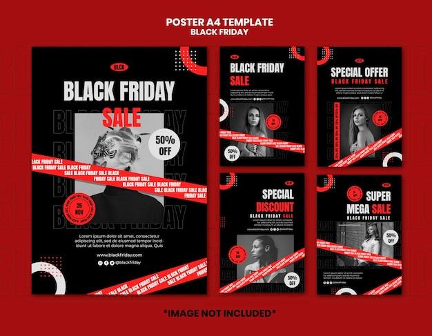 Postersjabloon zwarte vrijdag