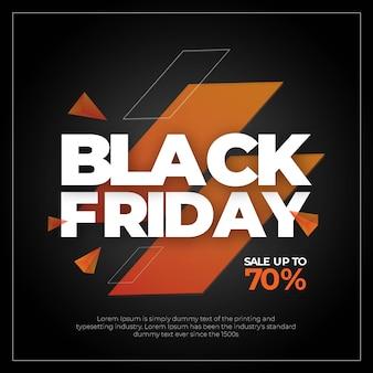 Posto di instagram di vendita del testo di black friday