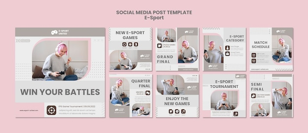 Postpakket voor e-sports sociale media
