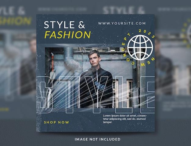 Postsjabloon voor stedelijke mode voor sociale media