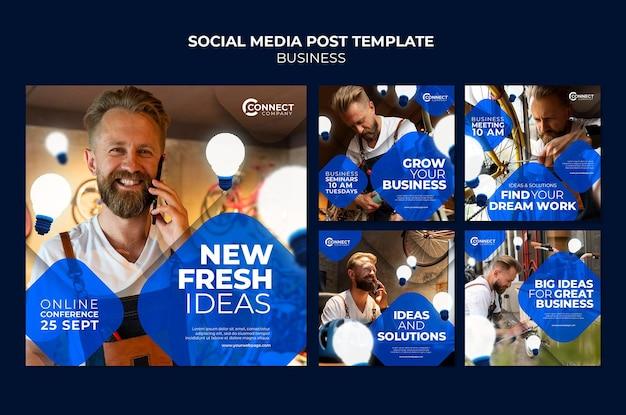 Postsjabloon voor zakelijke sociale media
